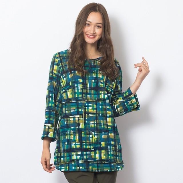 [マルイ] [大きいサイズ/L-3L]チェックプリントTシャツ/ピサーノ(PISANO)
