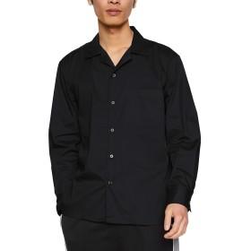 ウィゴー(メンズ)(WEGO) WEGO/ストレッチブロードオープンカラーシャツ【ブラック/S】