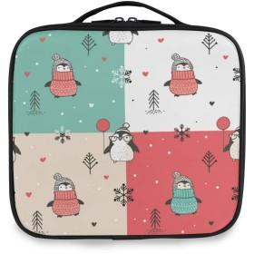 Akiraki 化粧ポーチ メイクボックス 大容量 機能的 おしゃれ かわいい ペンギン クリスマス 可愛い かわいい 気球 ハート ポーチ 小物入れ メイクポーチ 仕切り 仕分け 収納バッグ 収納ケース 化粧バッグ 旅行 出張 コンパクト 軽量 ファスナー 持ち運び便利