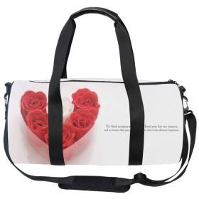 ボストンバッグ 旅行バッグトラベルバッグ収納バッグ ショルダバック バレンタインデーの引用 大容量 超軽量