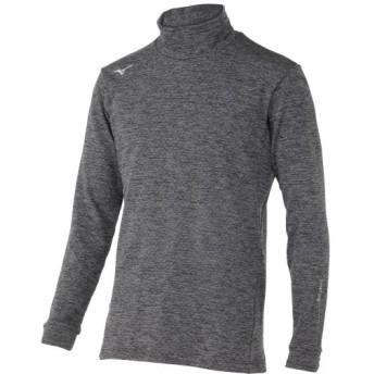 MIZUNO SHOP [ミズノ公式オンラインショップ] バイオネクストハイネック長袖シャツ(ストレッチフリース)(大きいサイズ)[メンズ] 06 グレー杢 52JJ9562