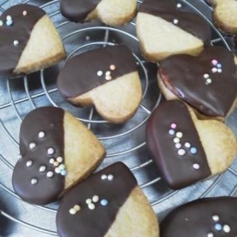 大人気! ハートチョコクッキー