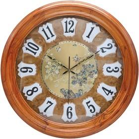 壁時計非カチカチ音がする電池式のヨーロッパの装飾的な居間の装飾の無声大きい水晶時計 (色 : B)