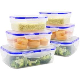 MEAUOTOU 食品ストレージコンテナ BPAフリー プラスチックコンテナセット Kicthen 6個