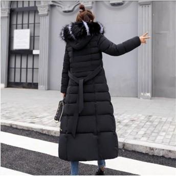 【大きいサイズ】ふわふわのファーがキュートな中綿ロングコート☆ボリュームフードで小顔効果☆ファーフード付き中綿ロングコート アウター
