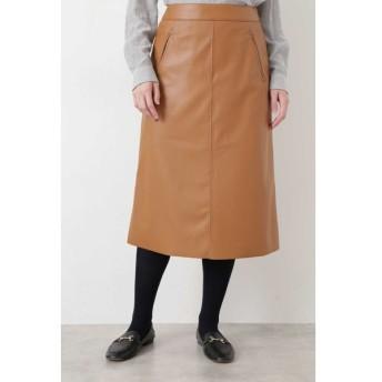 HUMAN WOMAN / ◆シンラムキッドフェイクレザースカート