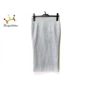 ミューズデドゥーズィエムクラス スカート サイズ36 S レディース 美品 ライトグレー 新着 20190912