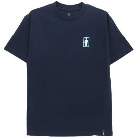 GIRL T-SHIRT ガール Tシャツ DUO OG スケートボード スケボー SKATEBOARD 紺,L