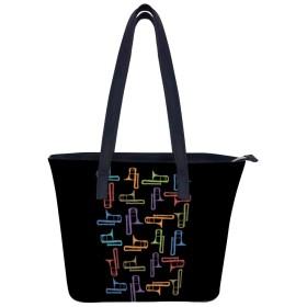 トロンボーン Tシャツユニークな大容量の女性のレザーワークトートショルダーバッグハンドバッグ