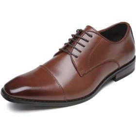 [フォクスセンス] ビジネスシューズ 革靴 軽量・撥水 本革 ストレートチップ 紳士靴 外羽根 ブラウン 28.5cm 623-02