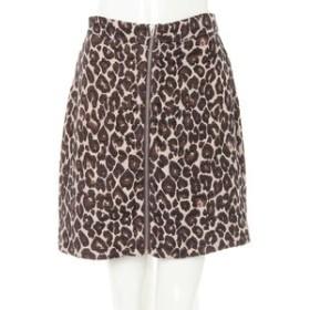 【INGNI:スカート】レオパード柄ジップ台形 スカート