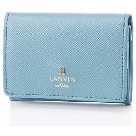 ランバンオンブルー(LANVIN en Bleu) リュクサンブールカラー コンパクト三つ折り財布【ブルー/**】