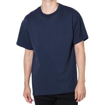 Hanes(ヘインズ) BEEFY-T Tシャツ ビーフィー 半袖 コットン 無地 US規格 L ネイビー