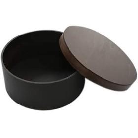 おひつ 木製 日本製 国産 中 茶色 約2~3合 箱入り