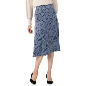 (ノーリーズ ソフィー) NOLLEY'S sophi ブラッシュ柄スカート 9-0030-5-06-004 36 ブルー系3
