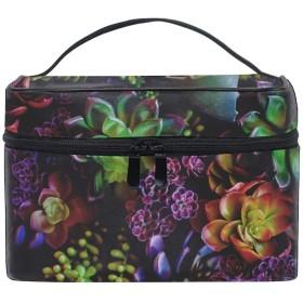 ユニーク 花観葉植物葉 おしゃれな メイクアップバッグ メイク道具 小物 お財布 化粧品 軽く 化粧ポーチ