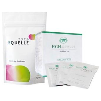 大塚製薬 エクエル パウチ 120粒入り 1袋 + HGH エクセレント アミノ酸サプリメント (15g×20袋)