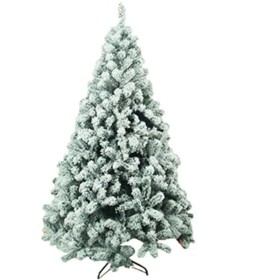 プレミアムスノーフロックヒンジ付き人工クリスマスパインツリーホリデーインテリアメタルスタンドクリスマスツリー (サイズ : 120cm)