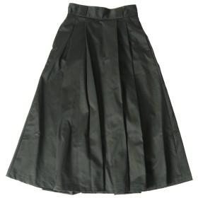 [ダントン] タックロングスカート レディース BLACK(BLK) 36(M)