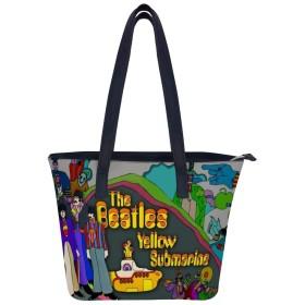 The Beatles (46)ハンドバッグレディースショルダーバッグレザーハンドバッグ大容量軽量ハンドバッグ旅行学校通勤ショッピングファッションショルダーバッグ
