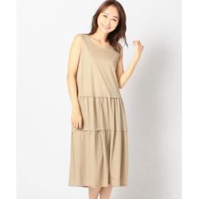 (MEW'S REFINED CLOTHES/ミューズ リファインド クローズ)ティアード風カットワンピース/レディース ベージュ