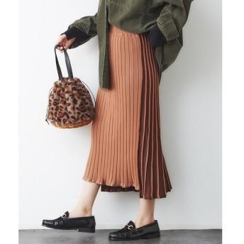 Rouge vif la cle / ルージュ・ヴィフ ラクレ 【2WAY】配色ニットスカート