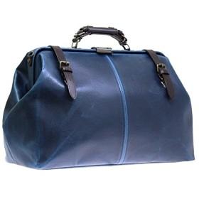 鞄/バック レトロ ダレスボストンバッグ 国産 トラベルバッグ 本革付属 ネイビー