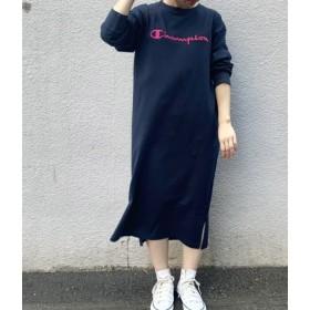 ビス/【チャンピオン】刺繍ロゴジャージワンピース/ネイビー系/M