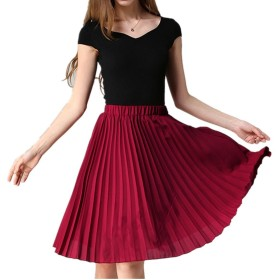 PINKING スカート レディース ひざ丈 プリーツ ファッション 可愛い カジュアル ゆったり 快適