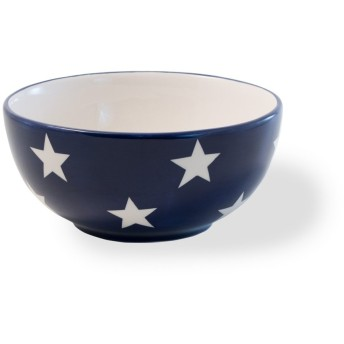 Celebrate the Home KAC18461 Ceramic, Bowl, Americana Flag Stars