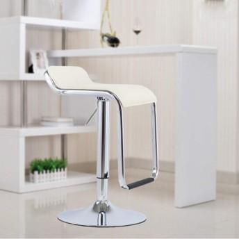 バーチェア - 調節可能な回転式朝食の台所バースツール、純木の持ち上がる反対スツールの高い椅子、バースツール (Color : Beige)