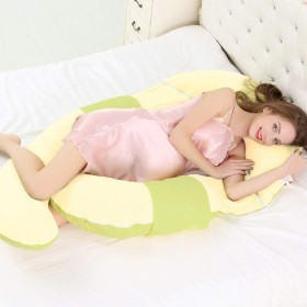 妊娠の枕 完全なボディ,U 字型 痛みを軽減 カバー マタニティ抱き枕 マタニティ 看護 クッション サポート-E 170x80cm(67x31inch)