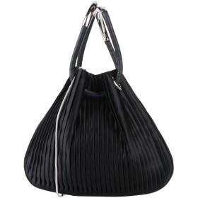 《期間限定セール開催中!》GIORGIO ARMANI レディース ハンドバッグ ブラック 革 / 紡績繊維