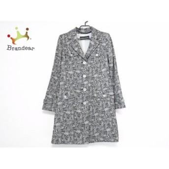 ヒロココシノ コート サイズ38 M レディース 美品 黒×ライトグレー 春・秋物/レース 新着 20190912