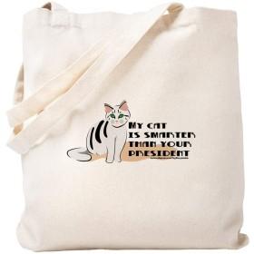 CafePress My Cat Is Smarter Than Your President トートバッグ S ベージュ 0057287722DECC2
