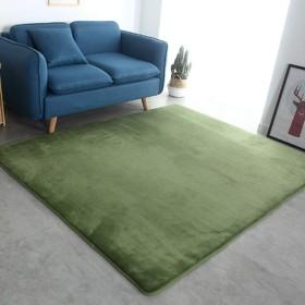 長方形 カーペット ラグ ラグマット シャギー 絨毯 無地 洗える 50×80+50×160cm 北欧 14サイズ 柔らかい 低反発 オシャレ 折り畳み ホットカーペット対応 防ダニ 手触りが優しい 耐摩耗性 ホール/リビング/ベッドルーム 四季通用 緑