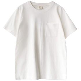 [ズーティー] zootie 汗しみない クルーネック ポケット Tシャツ[メンズ] ホワイト Mサイズ