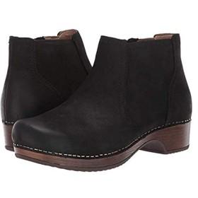 [ダンスコ] レディースブーツ・靴 Barbara Black Burnished Nubuck (24.5-25cm) Regular [並行輸入品]