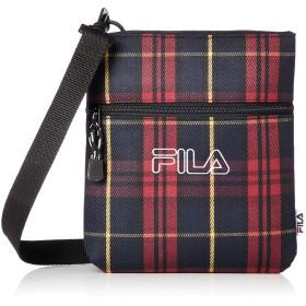 [フィラ] ショルダーバッグ レディース 斜めがけ カジュアル 肩掛け 小型 軽量 チェック柄 ブランド ロゴ ポリエステル 旅行バッグ レッド F