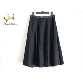 マーガレットハウエル スカート サイズ2 M レディース 美品 黒 FOXBROTHERS 新着 20190912
