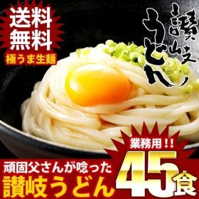 まとめ買いで超お得!クーポン適用可能!(送料無料) 讃岐生うどん 麺300g×15袋(45食)
