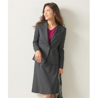 あったか裏地付◎洗えるすごく伸びるセミフレアスカートスーツ(ストレッチ蓄熱裏地付)【レディーススーツ】 (大きいサイズレディース)スーツ,women's suits ,plus size