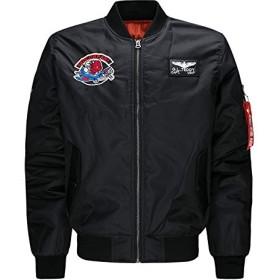 ジャンパー 大きサイズ 長袖 秋冬 メンズ ジャケット ストリート アウター 野球 バイク 空軍 (Mサイズ)