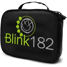 化粧ボックス メイクボックス Blink 182 ロゴ レディース ビューティー 収納ケース 小物入れ 多機能 大容量 流行 品質保証 ベーシック 持ち運びやすい ダブルファスナー 化粧品収納 手触りよく 長持ち 防水 耐衝撃 日常 出張 ギフト