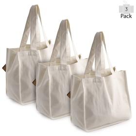 preservenextデラックス再利用可能なコットンキャンバスGrocery Tote Bag with Bottle袖 AX-AY-ABHI-116780