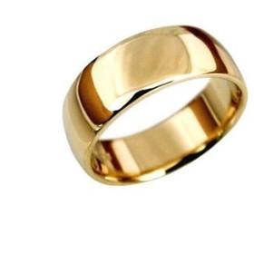 K24 指輪 鍛造(たんぞう) 純金 平甲丸(ひらこうまる)シンプルリング巾7mm10g マリッジ 結婚 記念日 プレゼント オリジナル オーダーリング (17号)