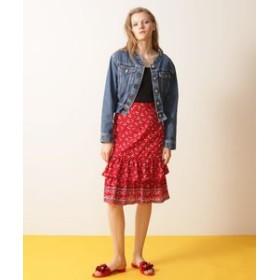 【GRACE CONTINENTAL:スカート】小花ティアードスカート
