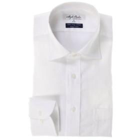 (TAKA-Q/タカキュー)形態安定80双レギュラーフィットワイドカラー長袖シャツ/メンズ ホワイト