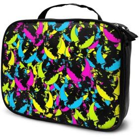 収納袋ハッピーハロウィン面白いパターン化粧品袋耐摩耗性軽量ポータブル高品質大容量旅行ポーチバスルームポーチ旅行小物整理約8×25×19cm