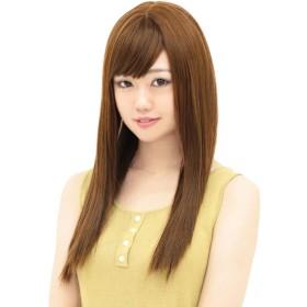 [AQUADOLL(アクアドール)] ウィッグ フルウィッグ さらさら 艶髪 ストレート ロング フリーサイズ OGBW.オレンジブラウン wg225OGBW